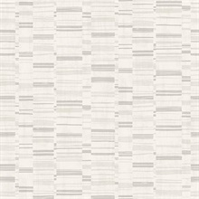 Fresnaye Light Grey Linen Horizontal Stripe Wallpaper