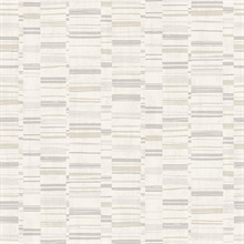 Fresnaye Neutral Linen Horizontal Stripe Wallpaper