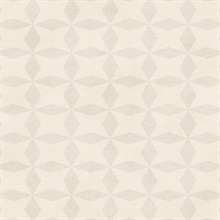 Frey Cream Geometric Wallpaper