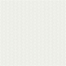 Frost White Vertical Infinity Stripe Wallpaper