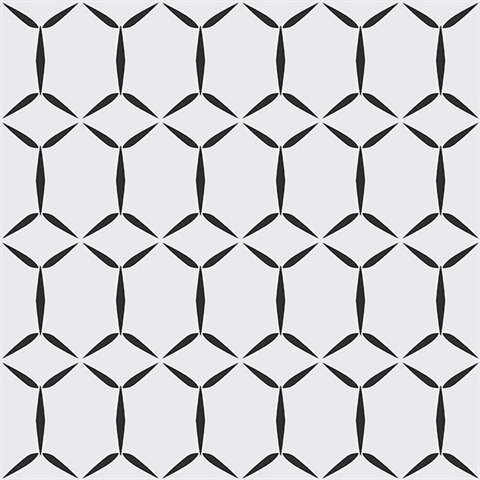 Fusion White Geometric Wallpaper