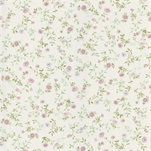Garden Lavender Wash Floral Wallpaper