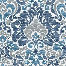 Garden of Eden Blue Damask