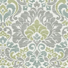 Garden of Eden Green Damask