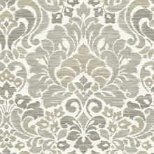 Garden of Eden Taupe Damask