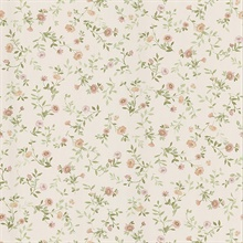 Garden Pink Wash Floral Wallpaper