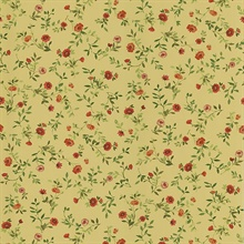 Garden Red Wash Floral Wallpaper