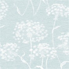 Garvey Light Blue Dandelion Wallpaper