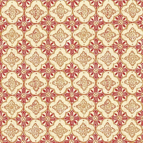 Geo Red Quatrefoil