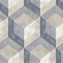 Geometric Blue Rustic Tile
