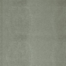 Gharial Mint Green Crocodile Skin Textured Wallpaper