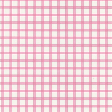 Ng63844 Gingham Pink Checkered Pattern Wallpaper