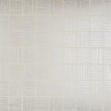 Glint Cream Distressed Geometric Wallpaper