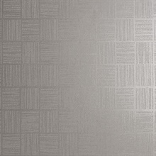 Glint Silver Distressed Geometric Wallpaper
