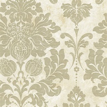 Gold and Beige Axbridge Damask