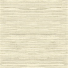 Gold Faux Grasscloth With Horizontal Textile Strings Wallpaper