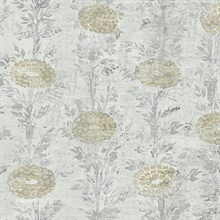 Gold French Marigold Wallpaper