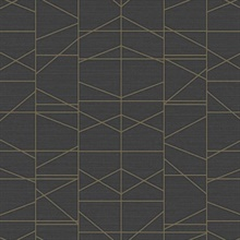 Gold Modern Perspective Geometric Wallpaper