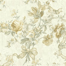 Gold Ribbon Floral