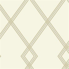 Gold Ribbon Stripe Trellis