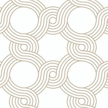 Gold The Twist Geometric Wallpaper