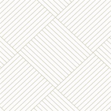 Gold Twisted Tailor Geometric Wallpaper