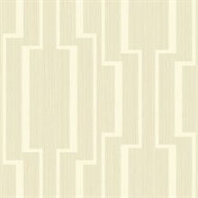 Gold & White Abstract Geometric Lines Wallpaper