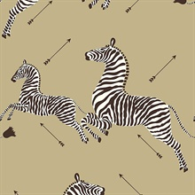 Gold Zebra Wallpaper