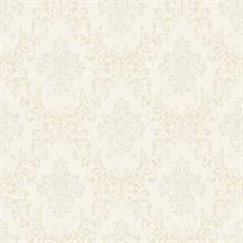 Golden Ice Damask Wallpaper