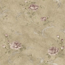 Gracie Sage Floral Scroll