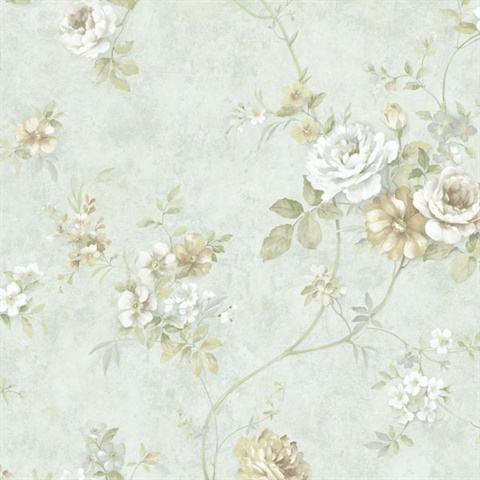 Grand Palms Cream Leaves Wallpaper