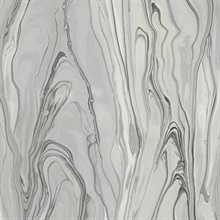 Gray Liquid Marble Wallpaper