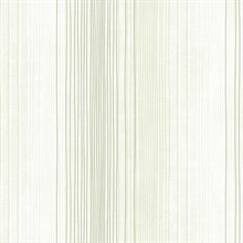 Green and White Random Stripe Prepasted Wallpaper