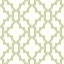 Green and White Tile Trellis