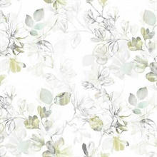 Green Arbor Floral Vine Wallpaper