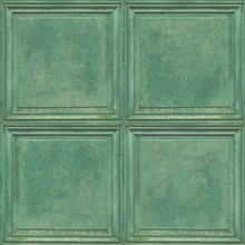Green Charleston Faux Wood Panels Wallpaper