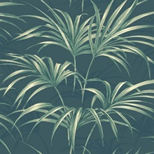 Green Commercial Open Palm Leaf Wallpaper