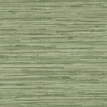 Green Faux Grasscloth Wallpaper
