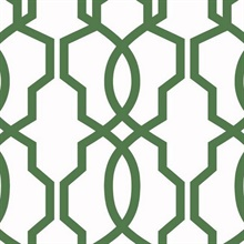 Green Hourglass Trellis Geometric Wallpaper