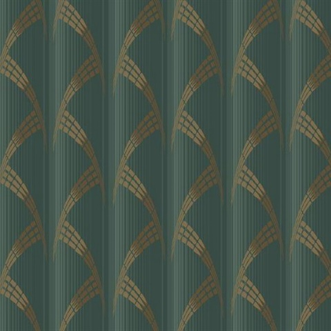 Green Modern Art Deco Metropolis