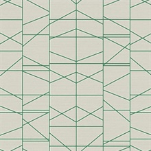 Green Modern Perspective Geometric Wallpaper