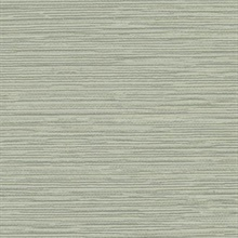 Green Ramie Faux Weave Horizontal Textured Wallpaper