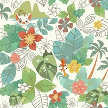 Green & Red Disney Moana Jungle Wallpaper