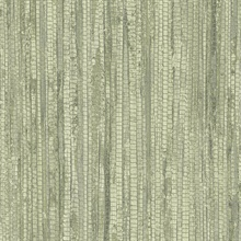 Green Vertical Faux Grasscloth