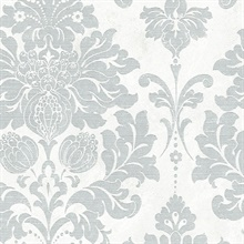 Grey and White Axbridge Damask