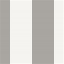 Grey and White Vertical 5.25in Stripe Prepasted Wallpaper