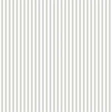 Grey and White Vertical 6mm Stripe Prepasted Wallpaper