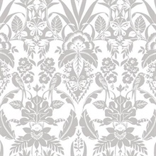 Grey Botanical Damask