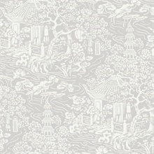 Grey Chinoiserie Wallpaper