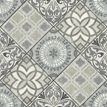 Grey Commercial Tile Wallpaper